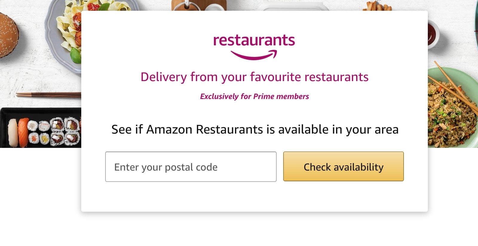 Amazon Closes Its Restaurant Delivery Service In The Uk