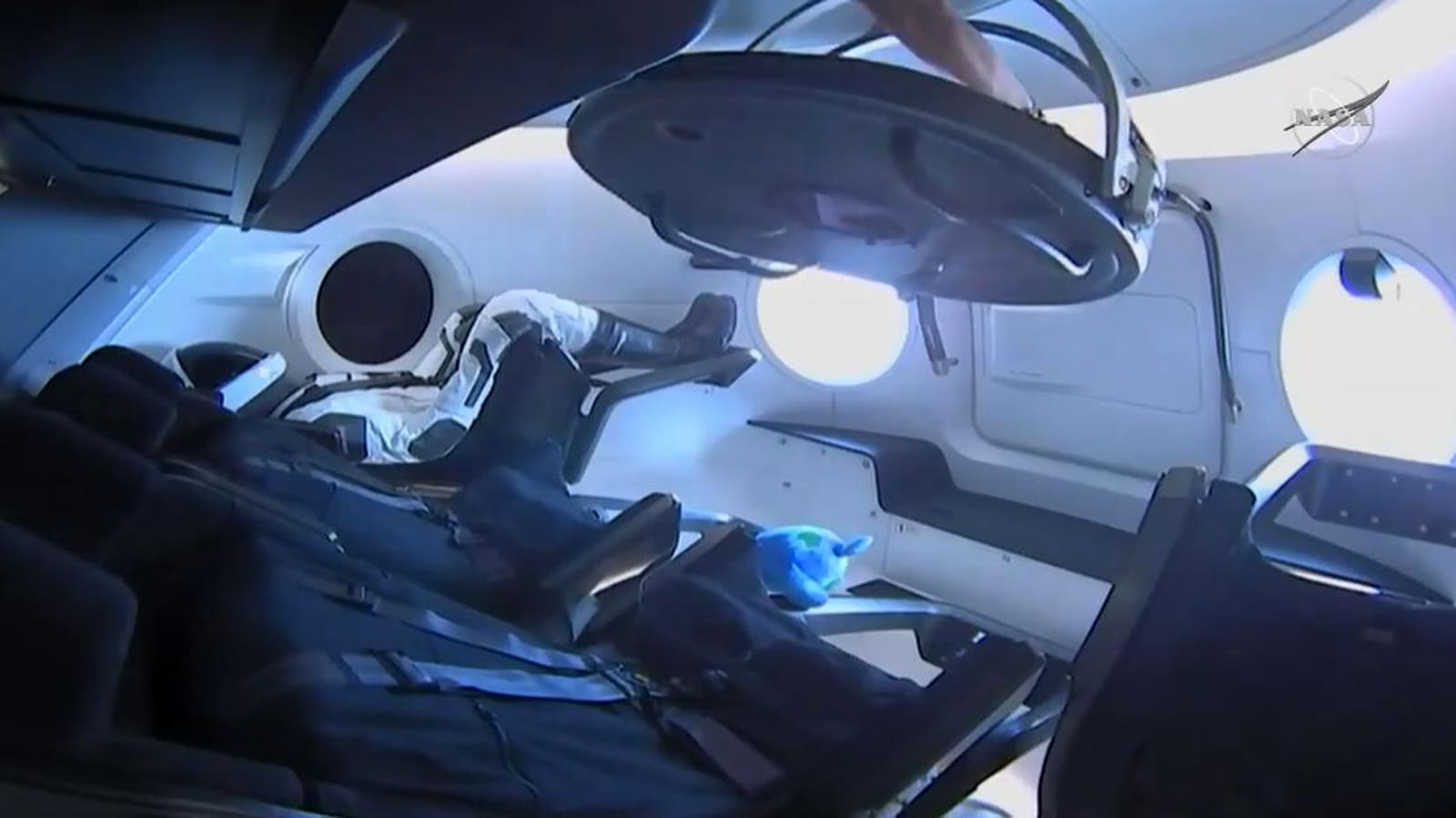 SpaceX Crew Dragon capsule docks with ISS