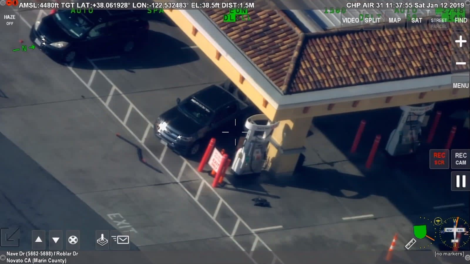 Police ended a gas station standoff by using a robot to