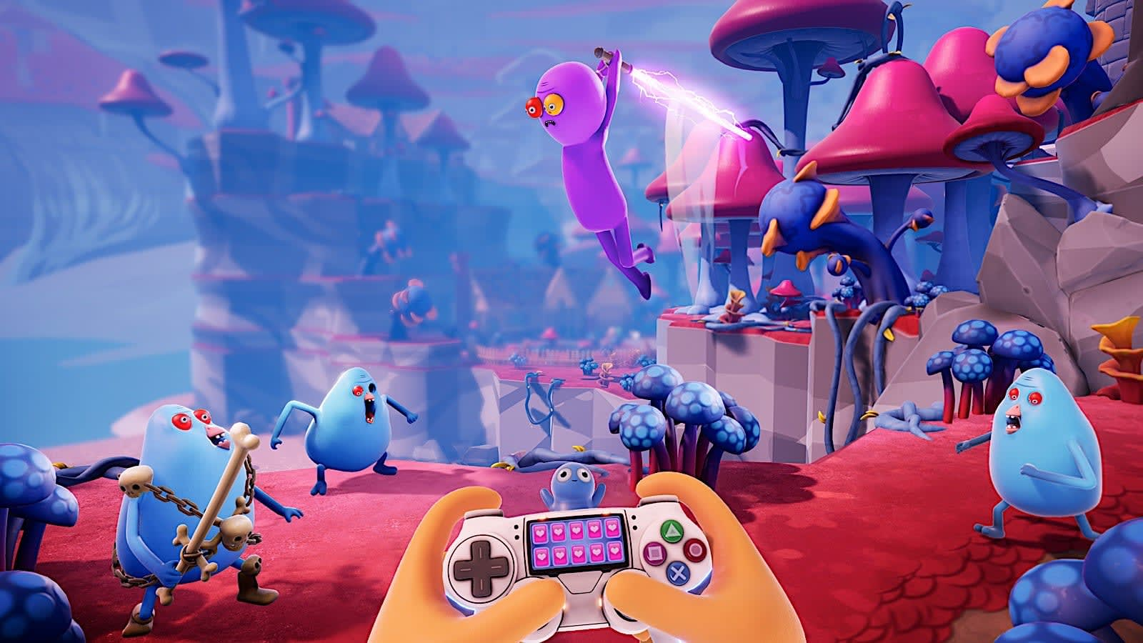 Gameplay de Trover Saves The Universe