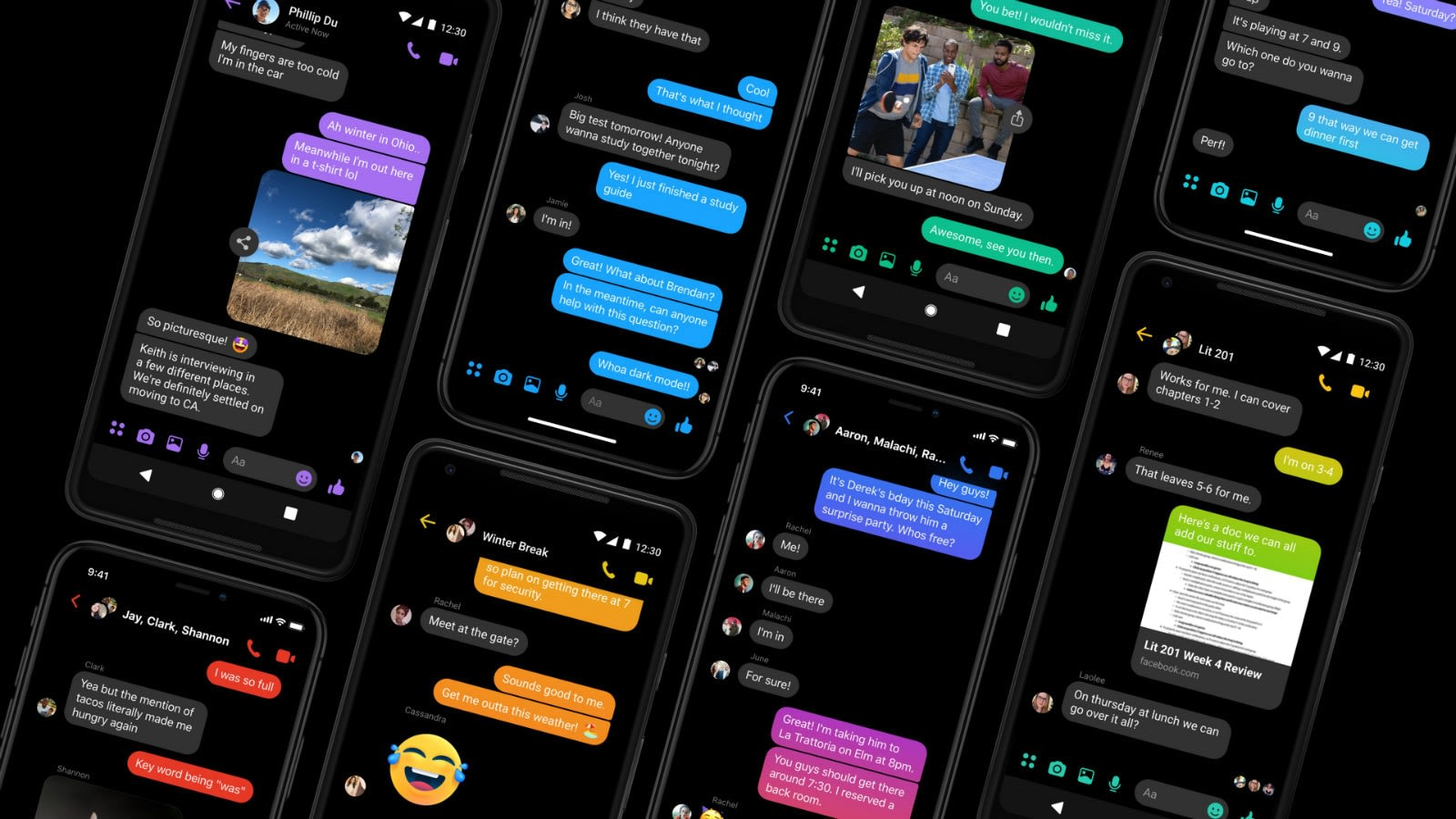 Messenger Is The First Facebook App To Get Dark Mode Engadget