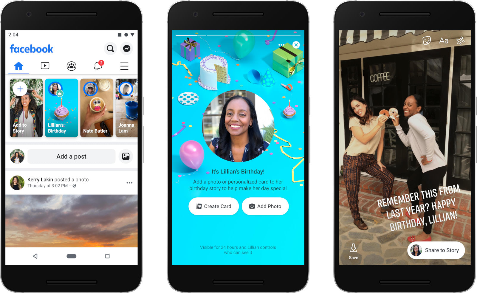 Facebook Reinvents Birthday E Cards For The Stories Age