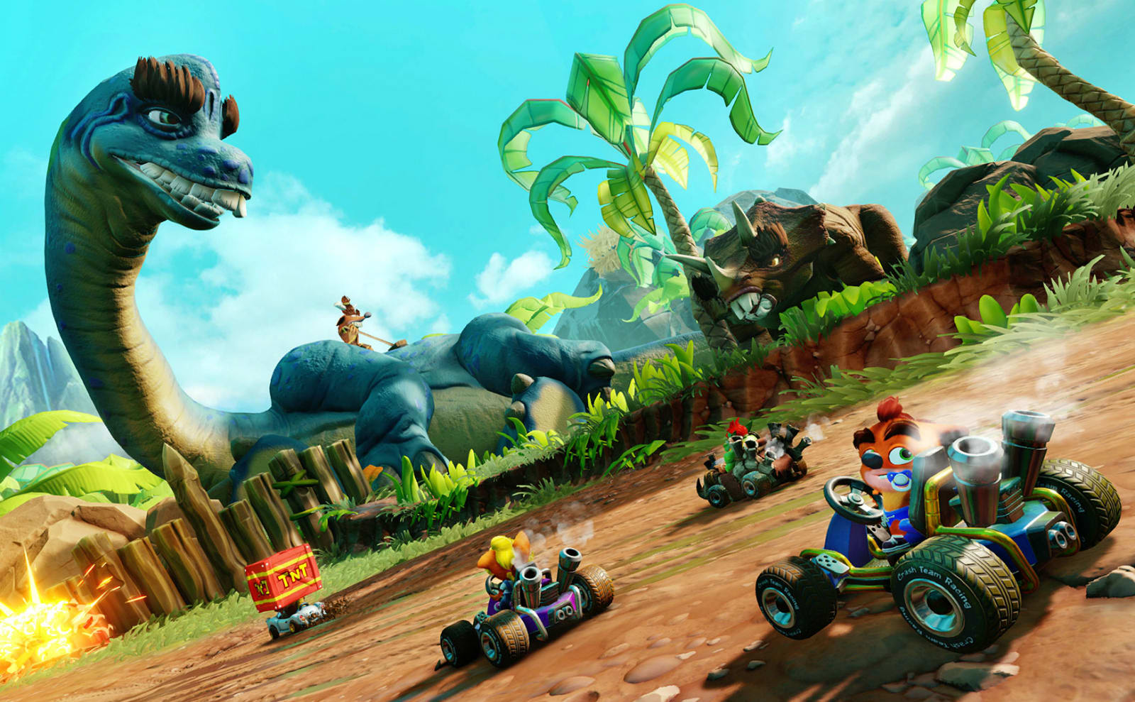 Crash Team Racing Nitro-Fueled' gets a dinosaur-themed grand