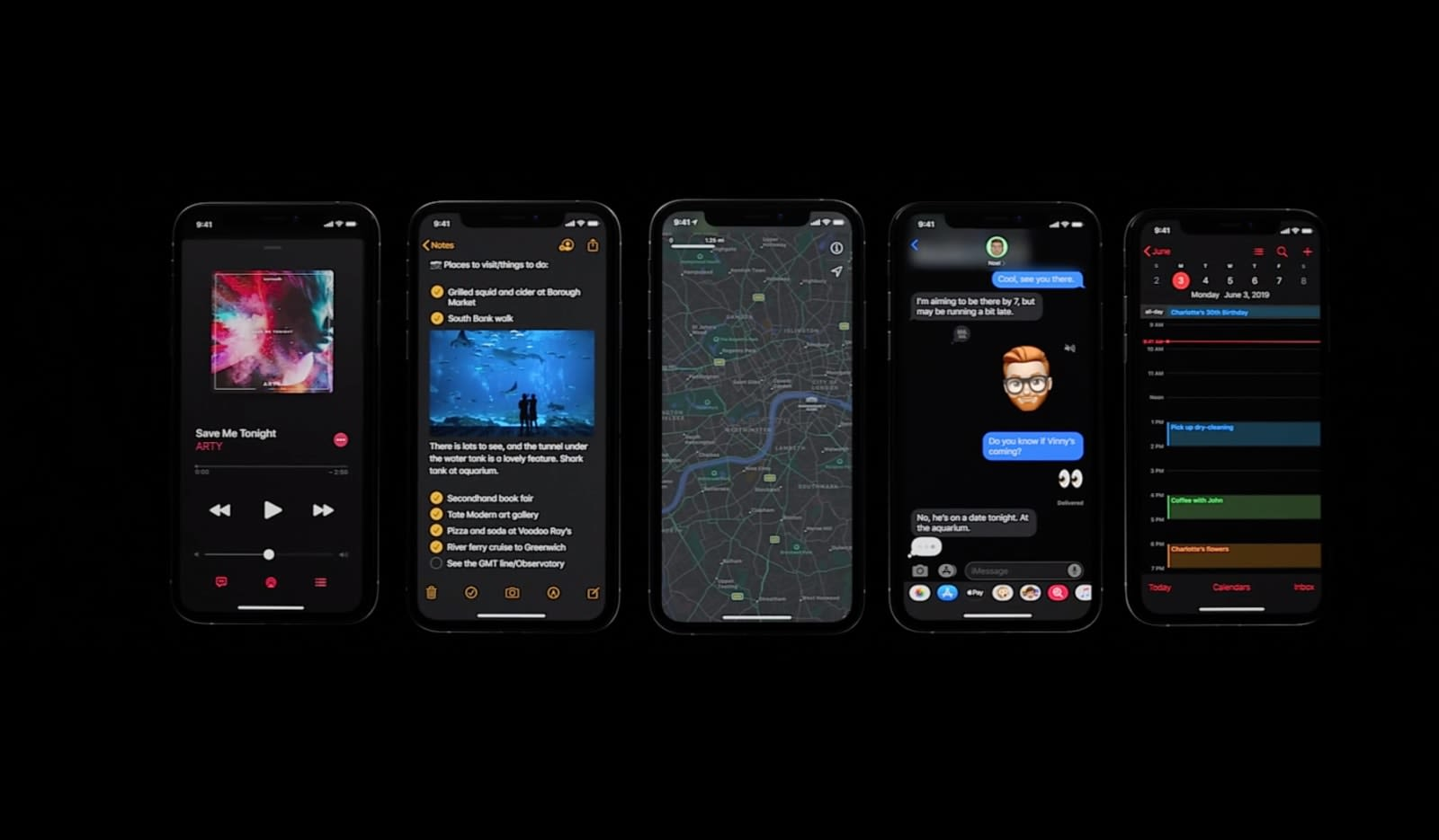 Apple Adds System Wide Dark Mode For Ios 13 Engadget