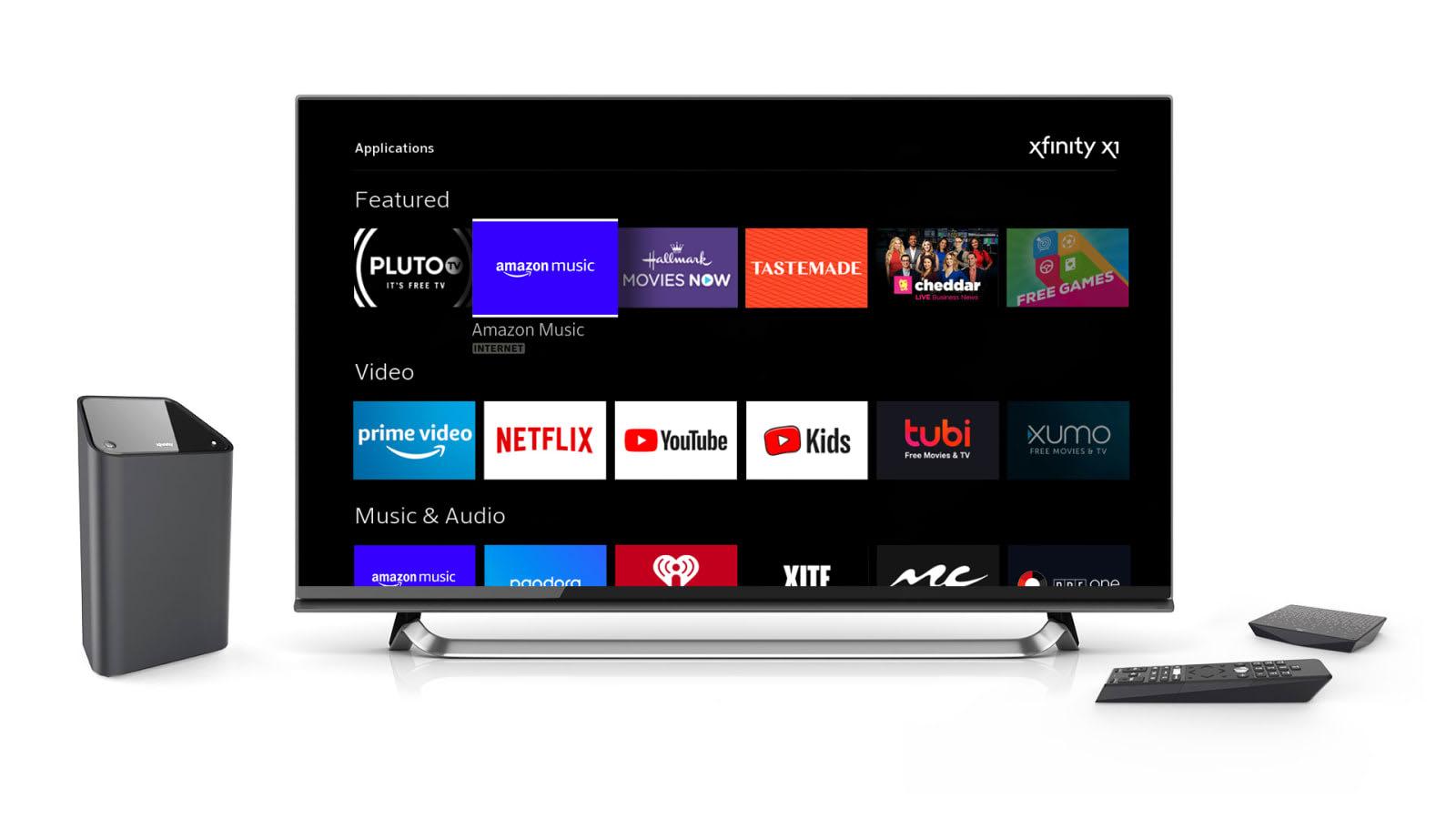 Comcast is bringing Amazon Music to Xfinity X1 and Flex