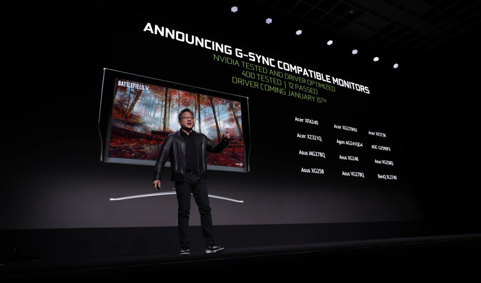 NVIDIA certifies a dozen FreeSync monitors as 'G-SYNC