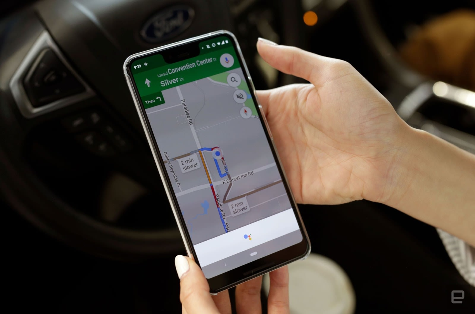 Google Maps shows your speed while you're driving