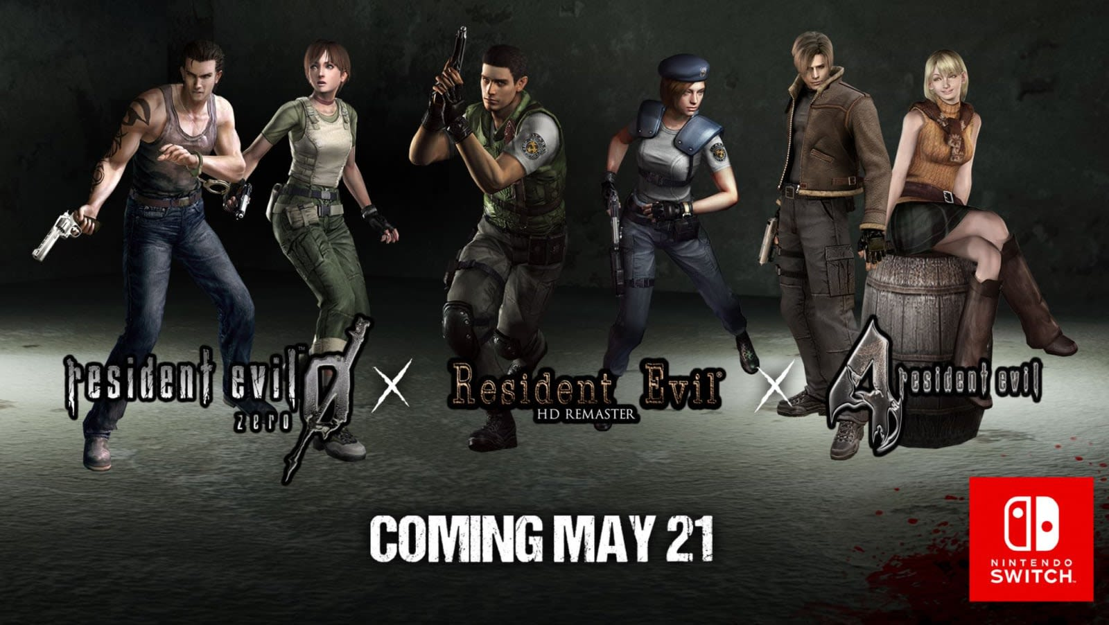 Three classic 'Resident Evil' games come to the Switch on
