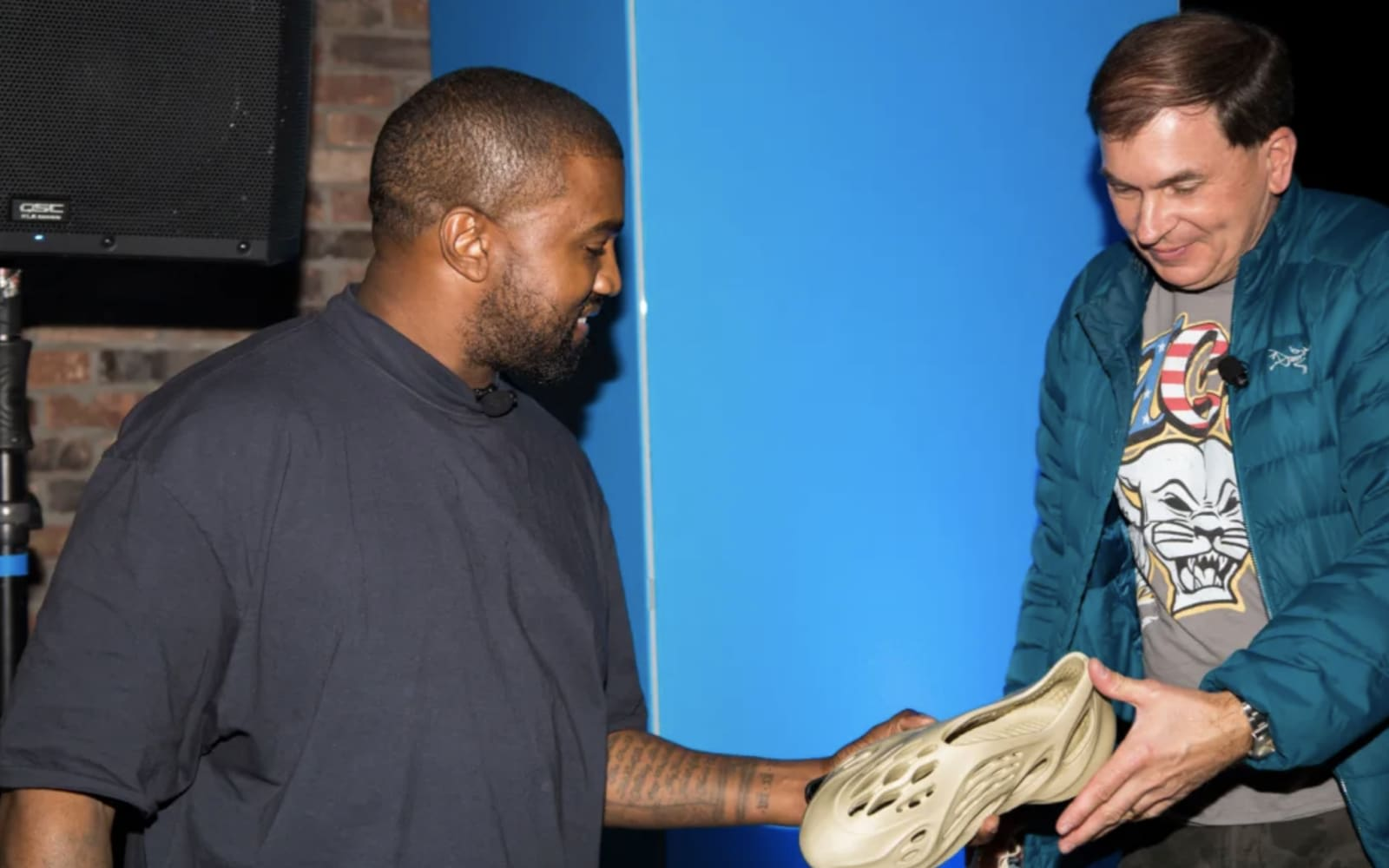 Image result for The next shoe in Kanye West Yeezy line could be produced using algae froth.
