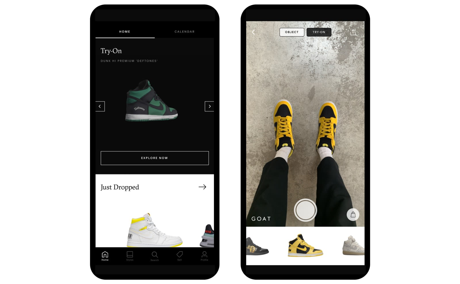 GOAT's new AR feature lets you 'try on' the hottest sneaker drops