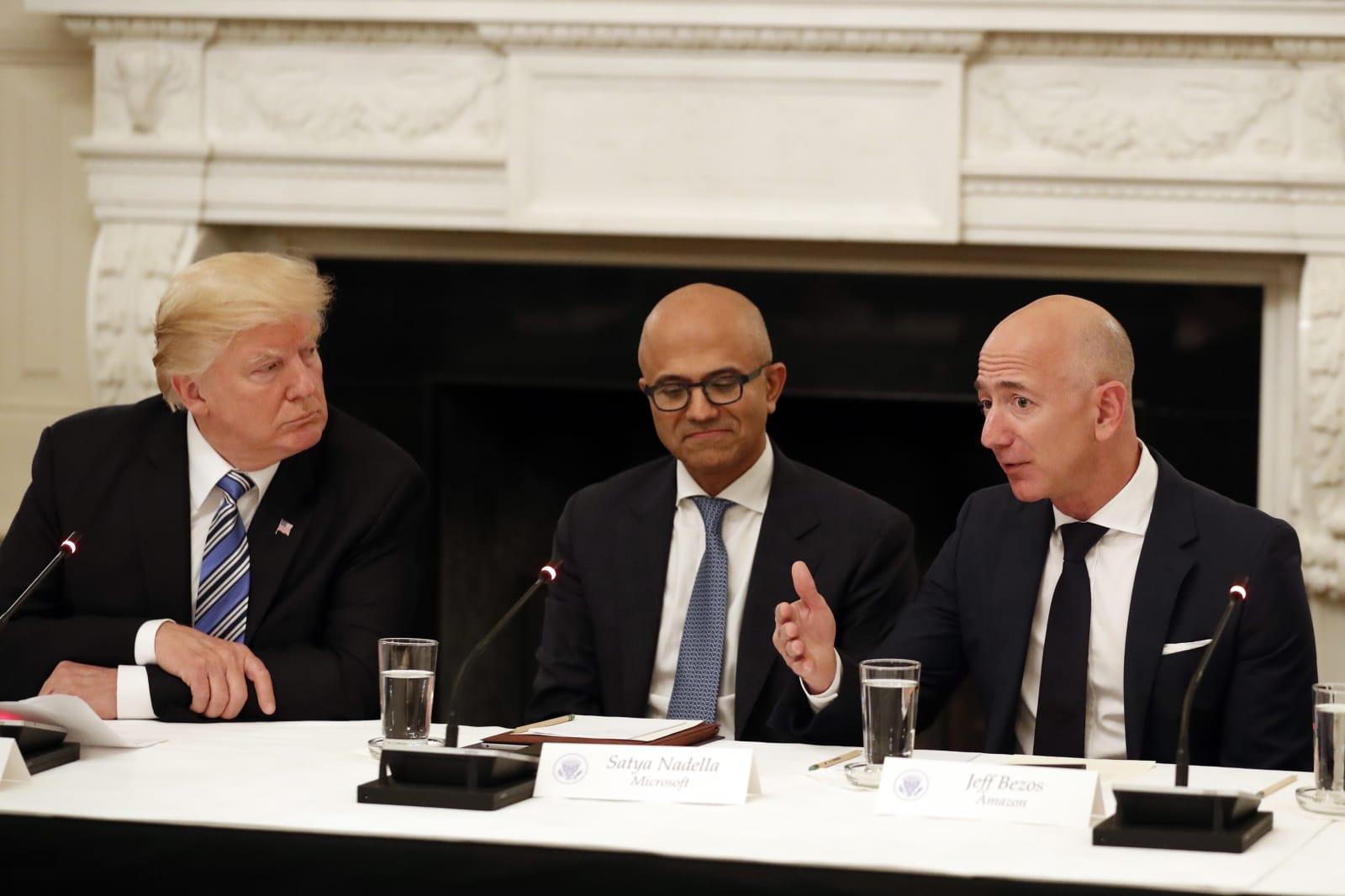 Pentagon puts $10 billion contract on hold after Trump criticizes Amazon