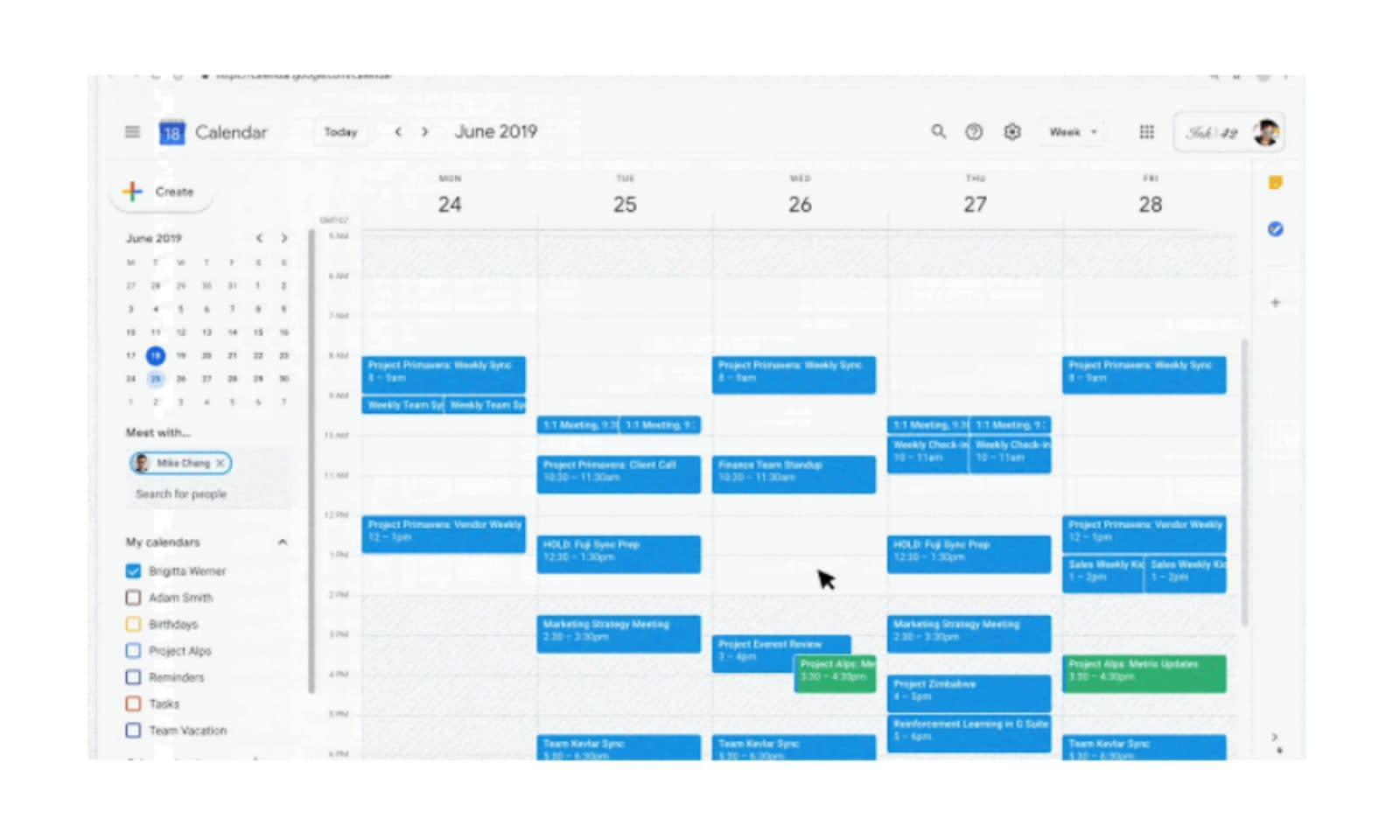 Google Calendar will guess your working hours and warn