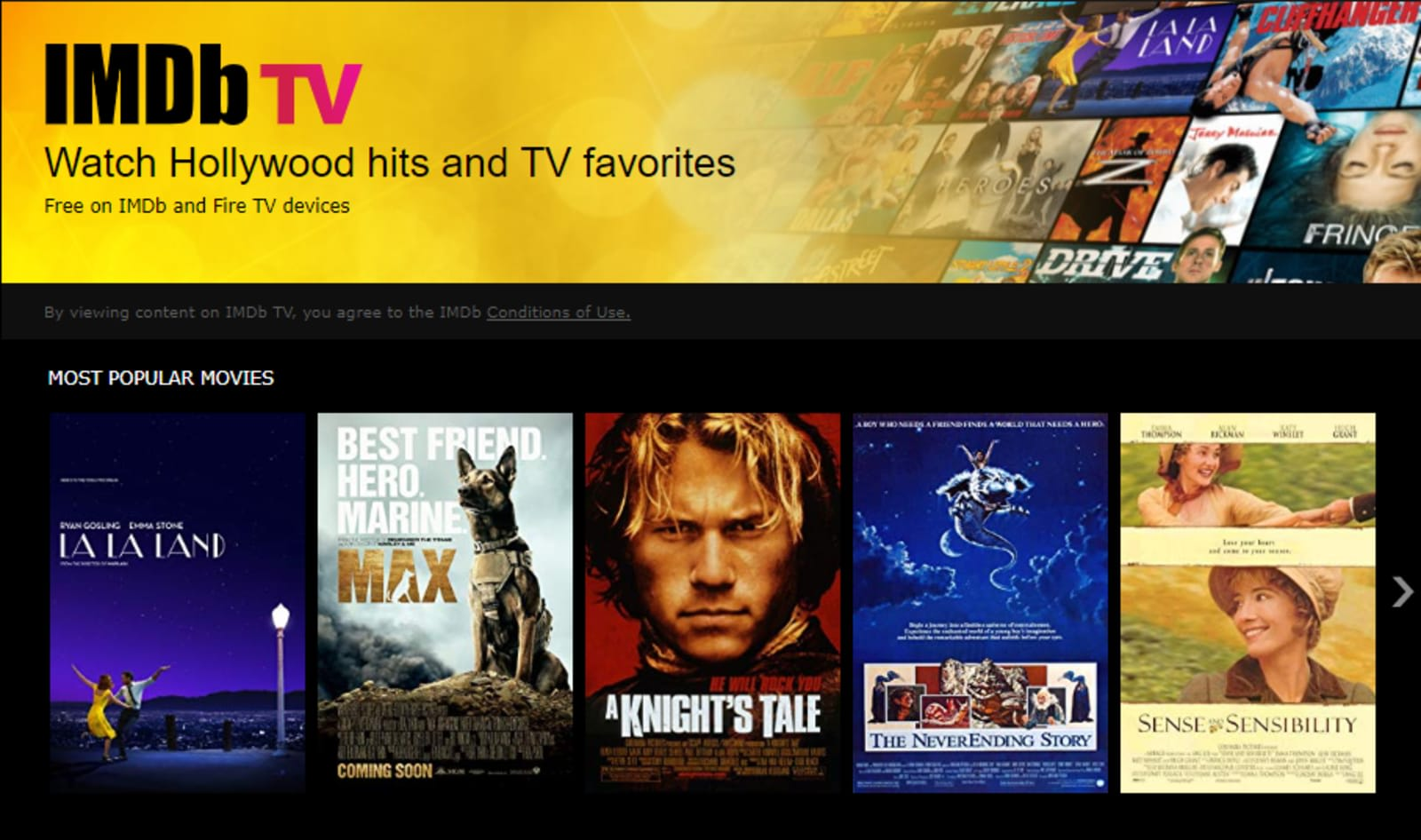 Watch dozens of free movies in IMDb's app