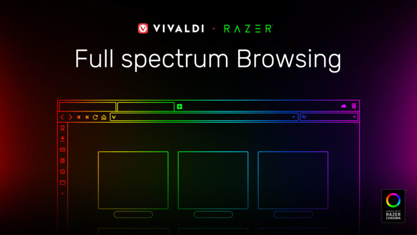Vivaldi browser syncs Razer Chroma lights with website colors