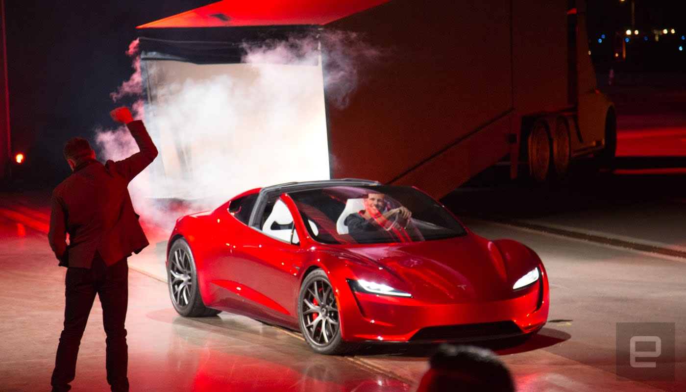 Tesla Reveals A New Roadster Due In 2020