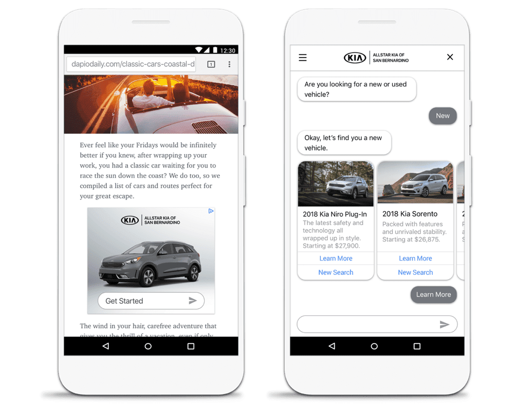 Google-backed startup's chat bots turn ads into conversations