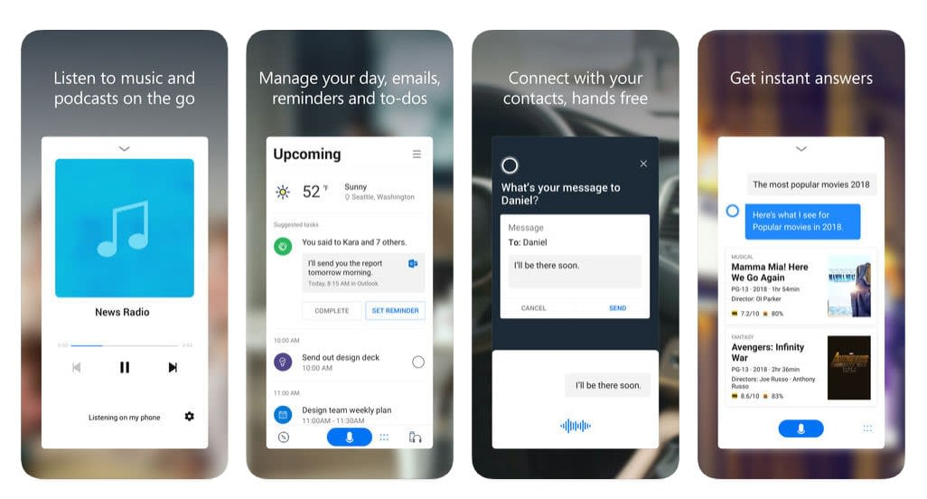 Microsoft releases its redesigned Cortana app for iOS