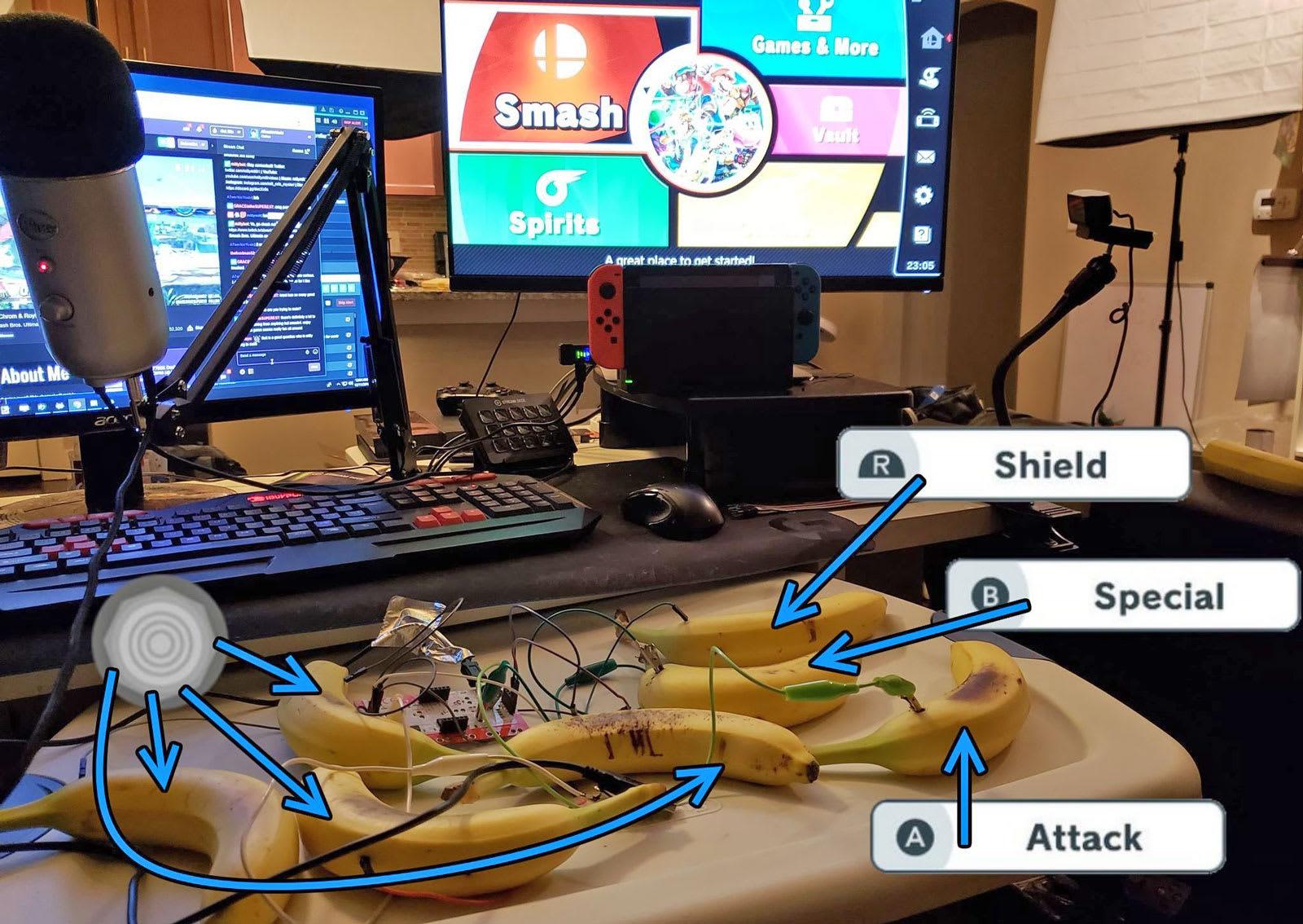 You can play 'Super Smash Bros  Ultimate' with banana