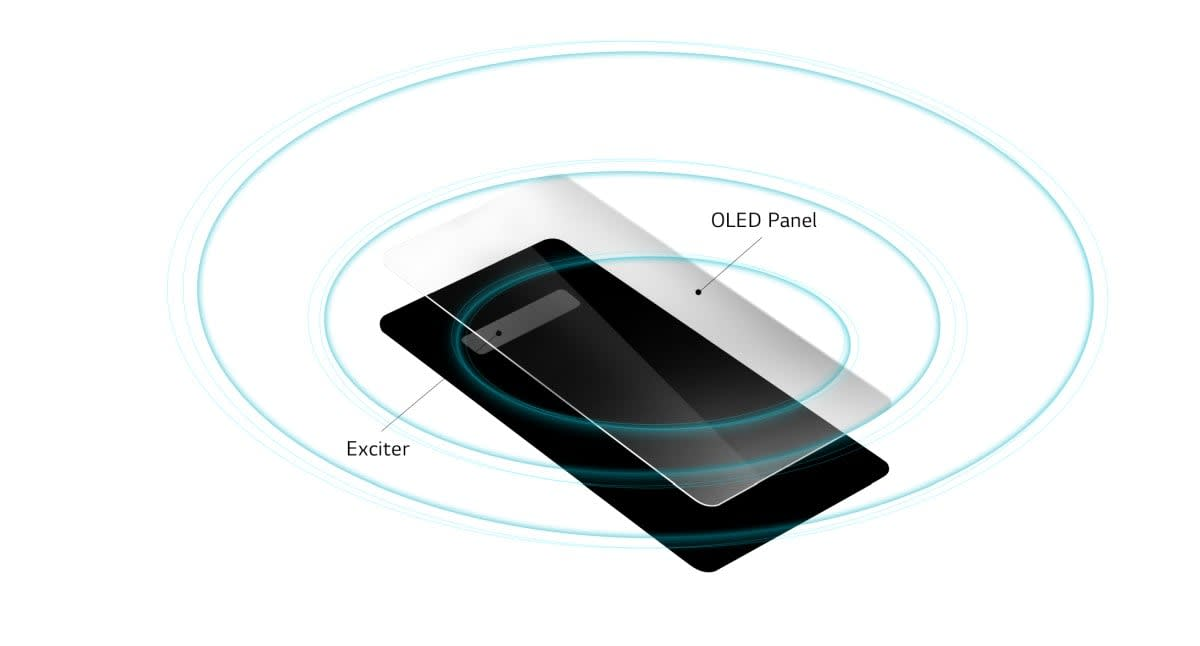 LG's G8 uses its OLED screen for audio too