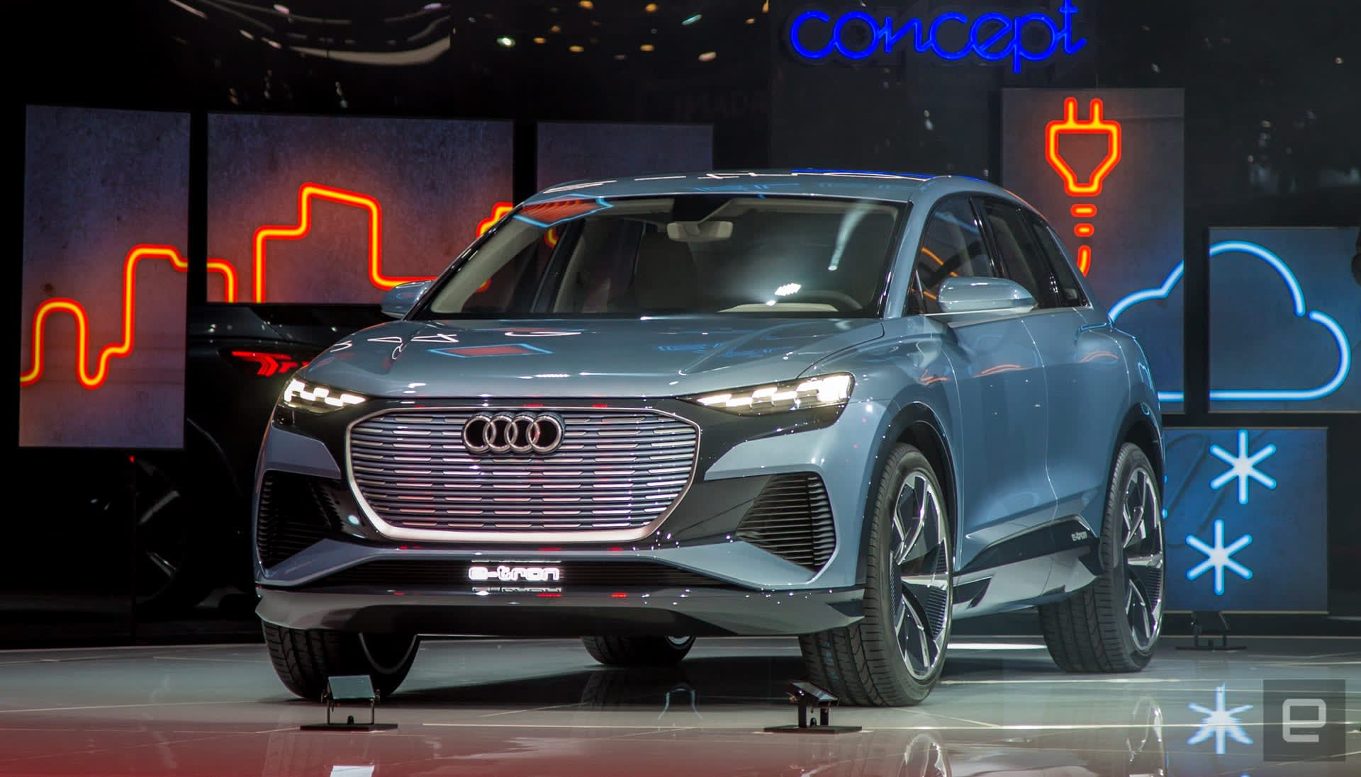 Audi's E-Tron line gets a bit more crowded with the Q4 crossover concept