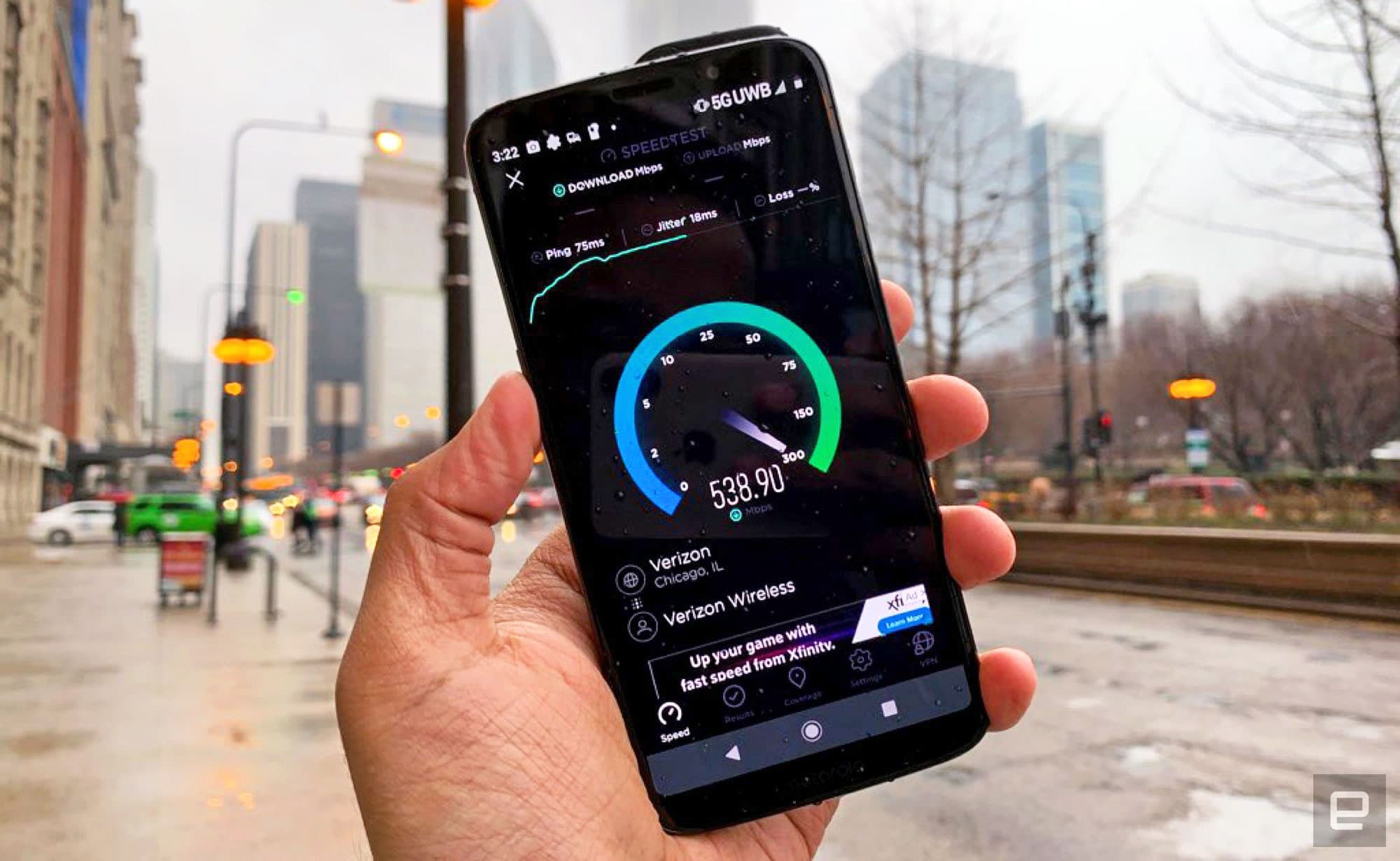Verizon's 5G network is live and fast, if you can find it
