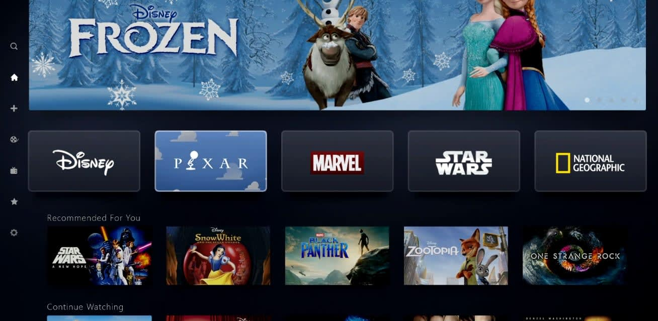 Disney+ app and worldwide rollout plans revealed