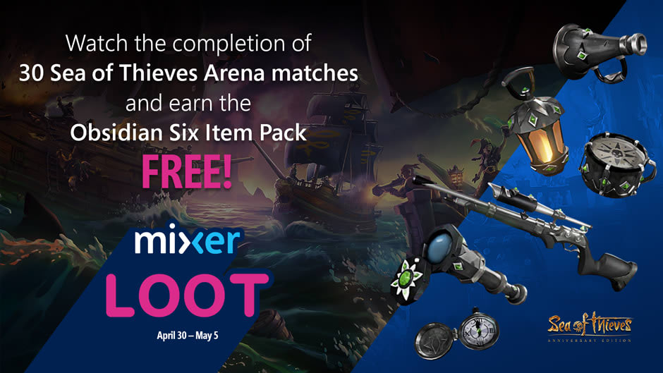 Watch 'Sea of Thieves' on Mixer to get free DLC