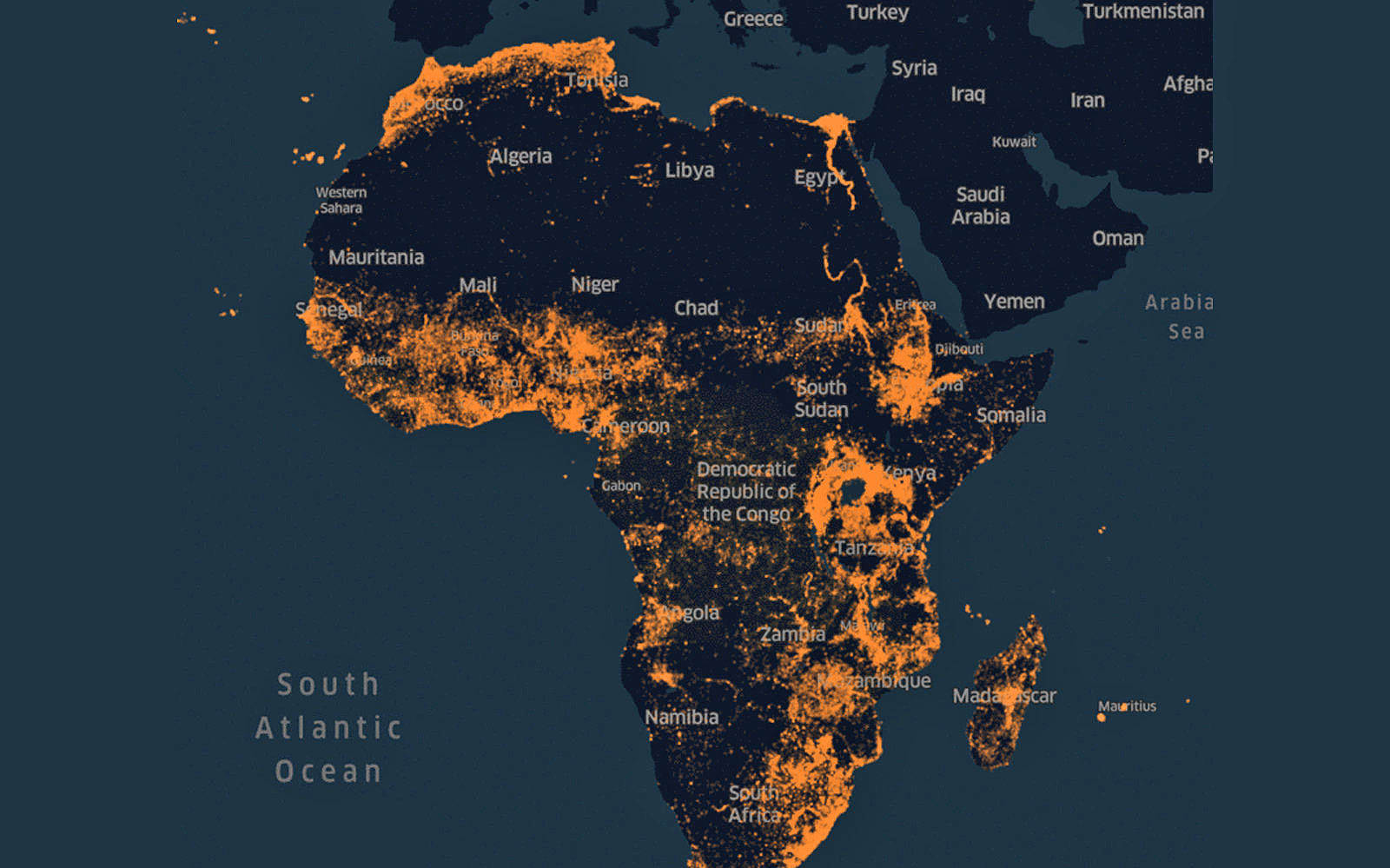 Map Of Africa Map.Facebook Creates An Ai Based Map Of Africa To Help With Crisis Relief