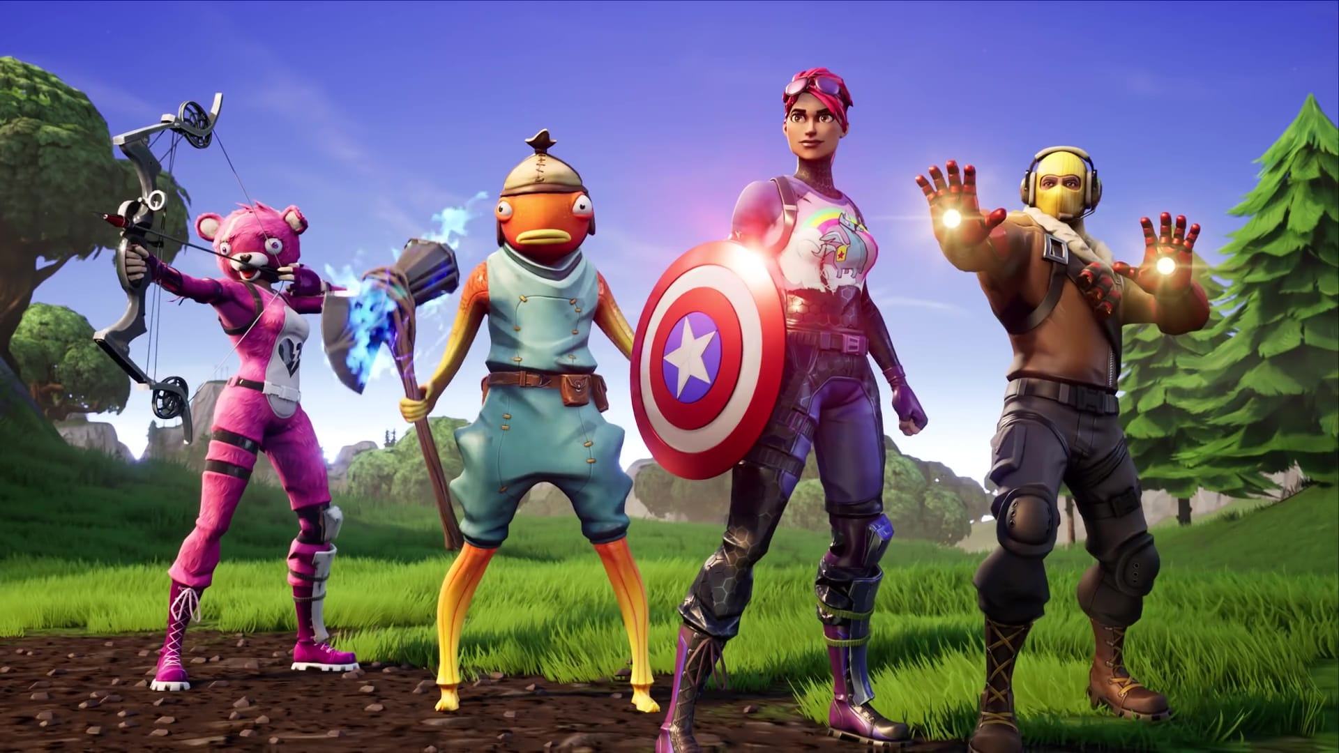 fortnite lets you fight thanos with avengers weapons - fortnite food fight glitch wings