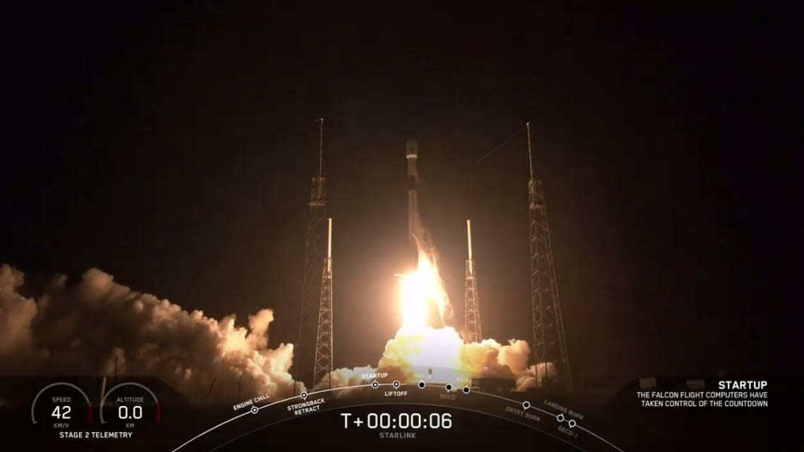 SpaceX just launched a Falcon 9 loaded with Starlink internet satellites
