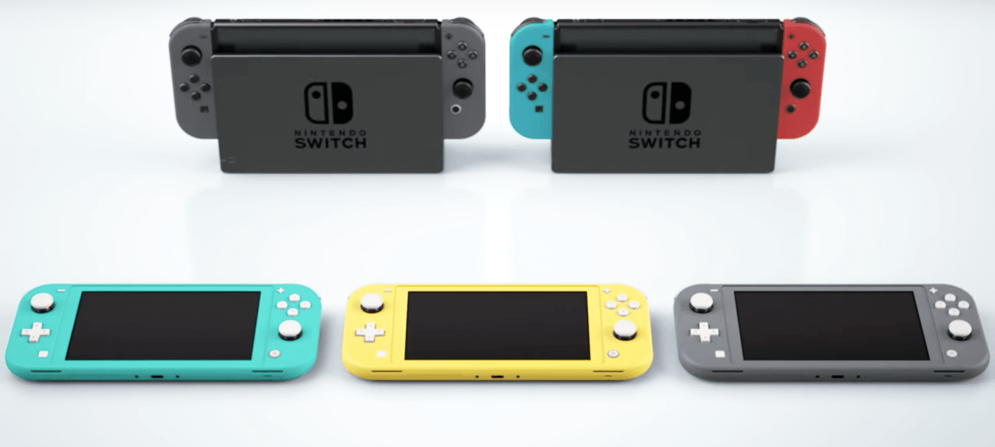 Resultado de imagem para Switch lite and original switch
