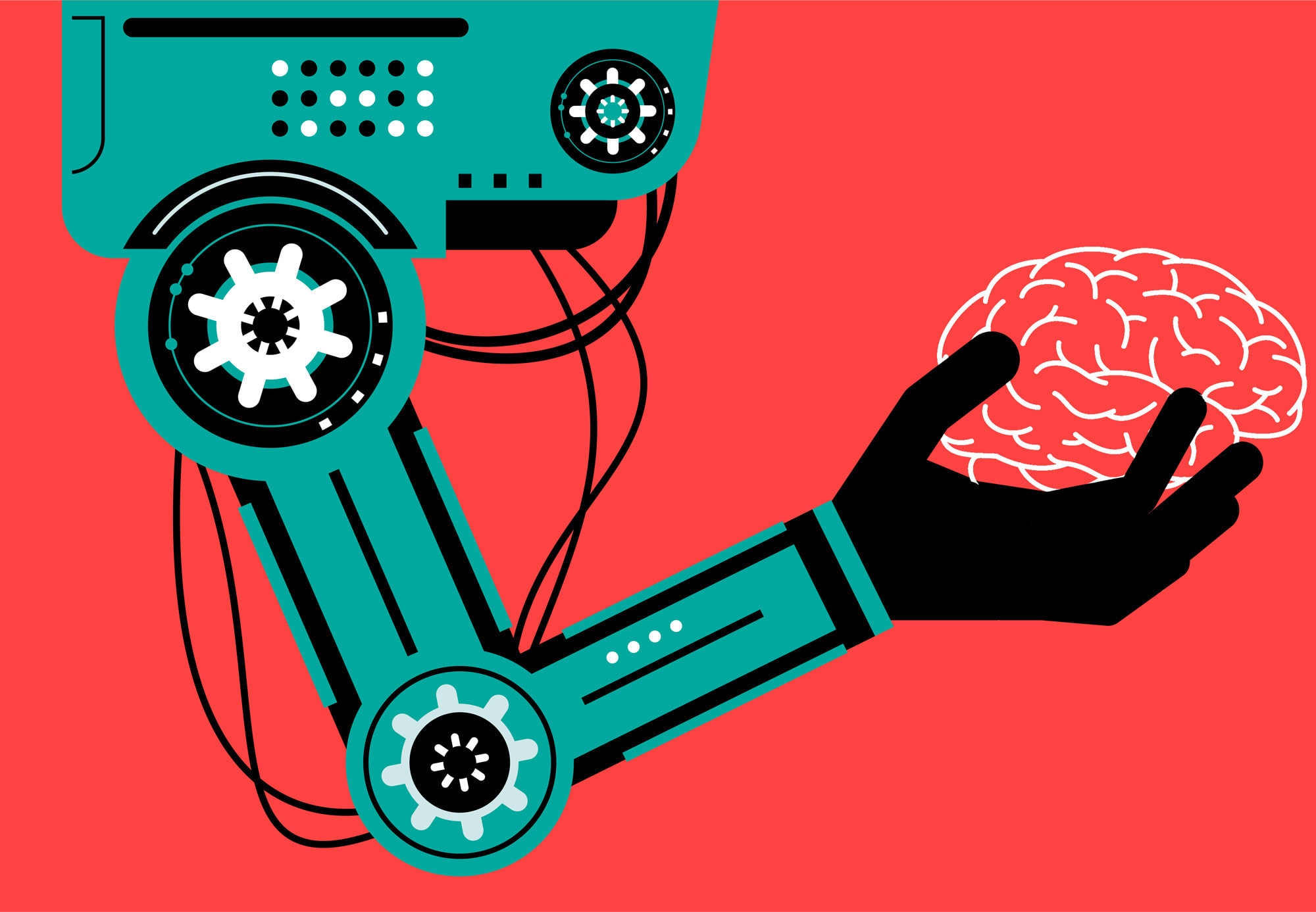 A mind-controlled robot arm doesn't have to mean brain implants