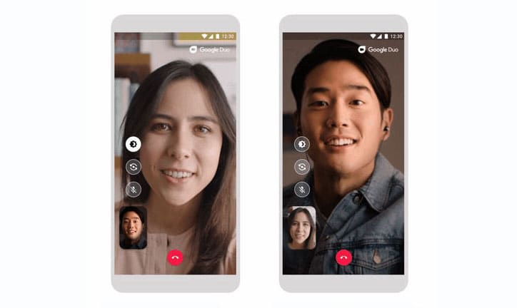 Google Duo's low light mode brightens your nighttime video calls