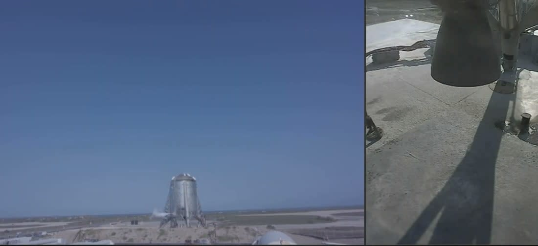 Watch SpaceX's Starhopper attempt a 150m 'hover test'