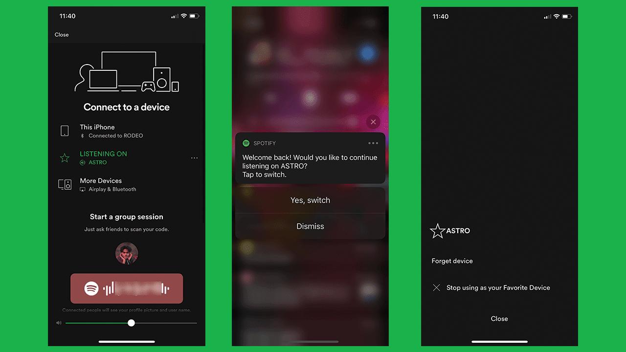 Spotify tests simplified speaker handoff feature