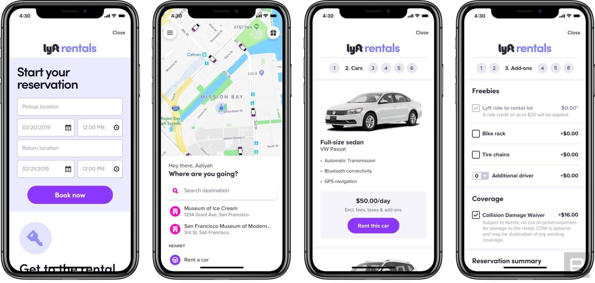 Lyft Car Rental >> Lyft Debuts Car Rentals In Los Angeles And The Sf Bay Area