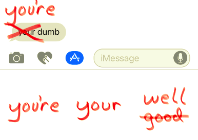 Grammar Snob stickers for iMessage are ready to ruin your