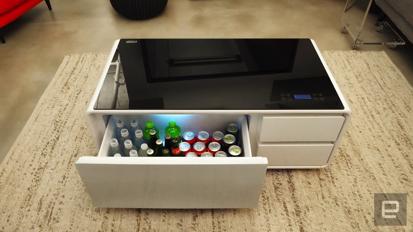 Sobro Coffee Table.Sobro The Smart Coffee Table For Cold Beers And Chill Tunes