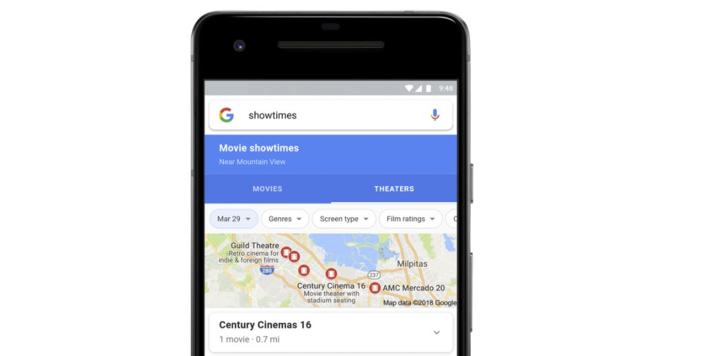 Google puts movie info, reviews and showtimes all in one spot