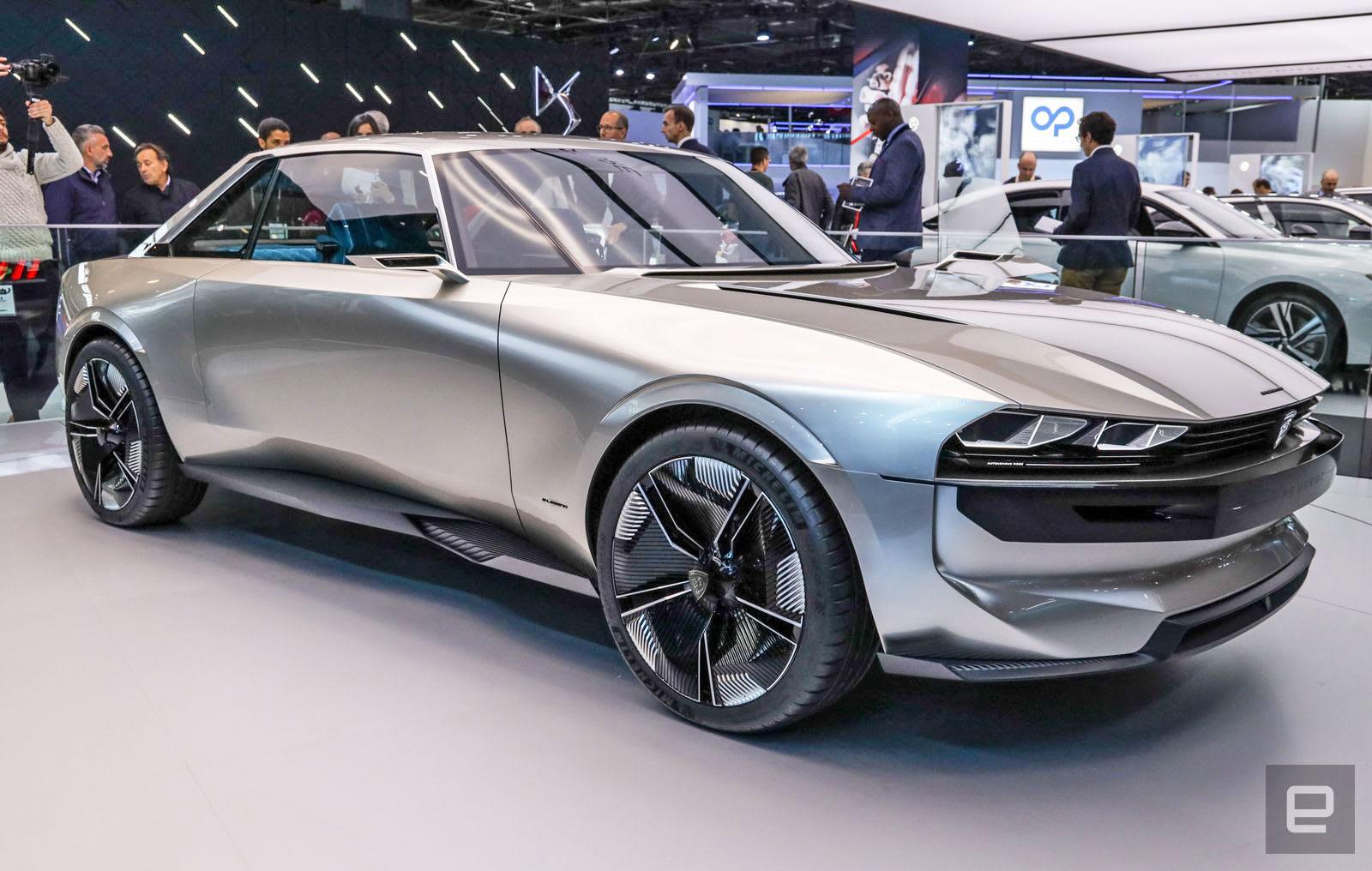 Peugeot S E Legend Concept Ev Is A Futuristic Throwback