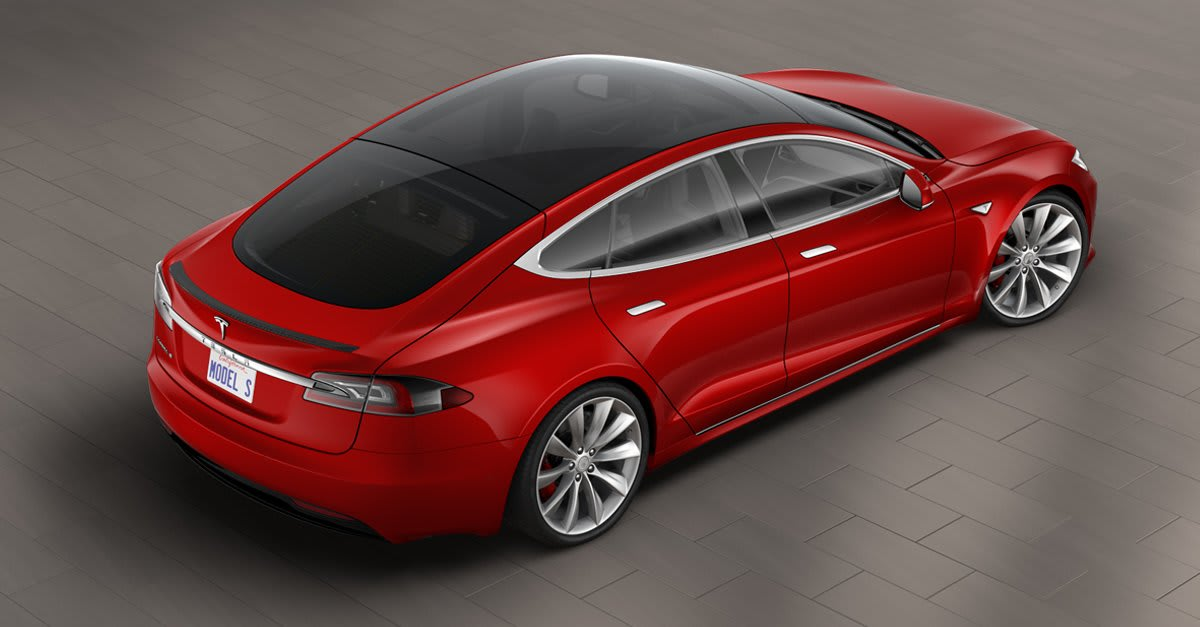 Tesla Added An All Glass Roof To The Model S