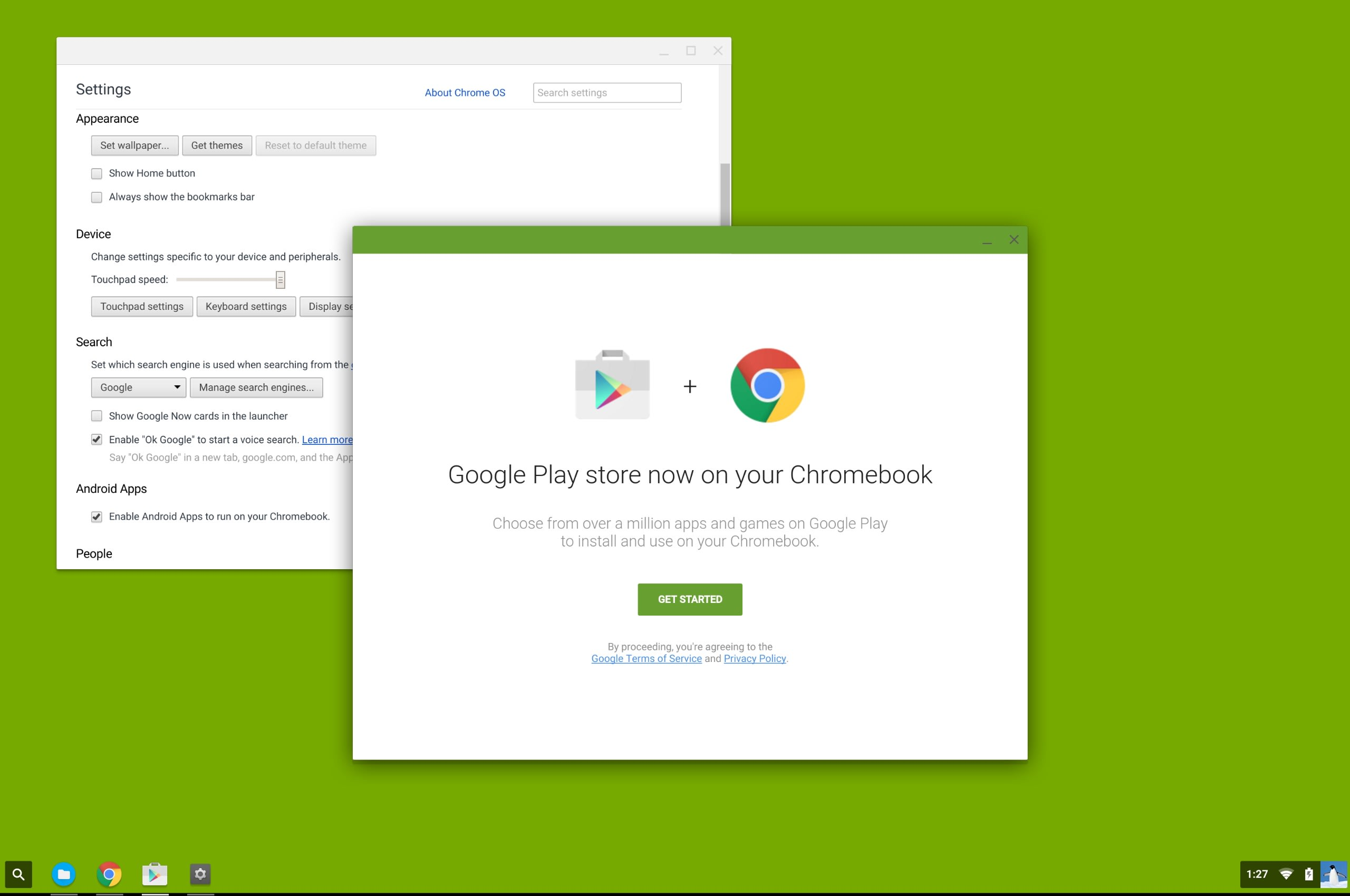 Google will soon bring the Android Play Store to Chromebooks