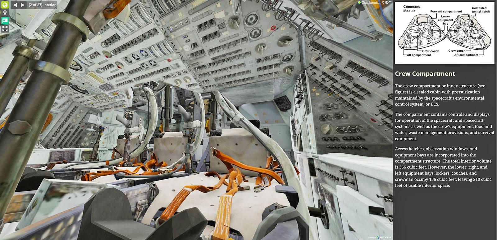 space shuttle interior 3d scan - photo #45