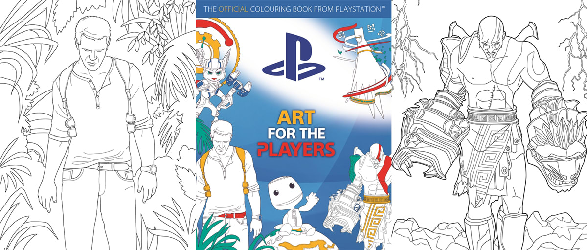 Re Skin Kratos With The Official Playstation Coloring Book