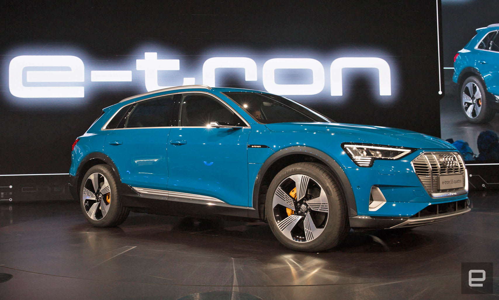 audi rips the camouflage off its e tron electric suv. Black Bedroom Furniture Sets. Home Design Ideas