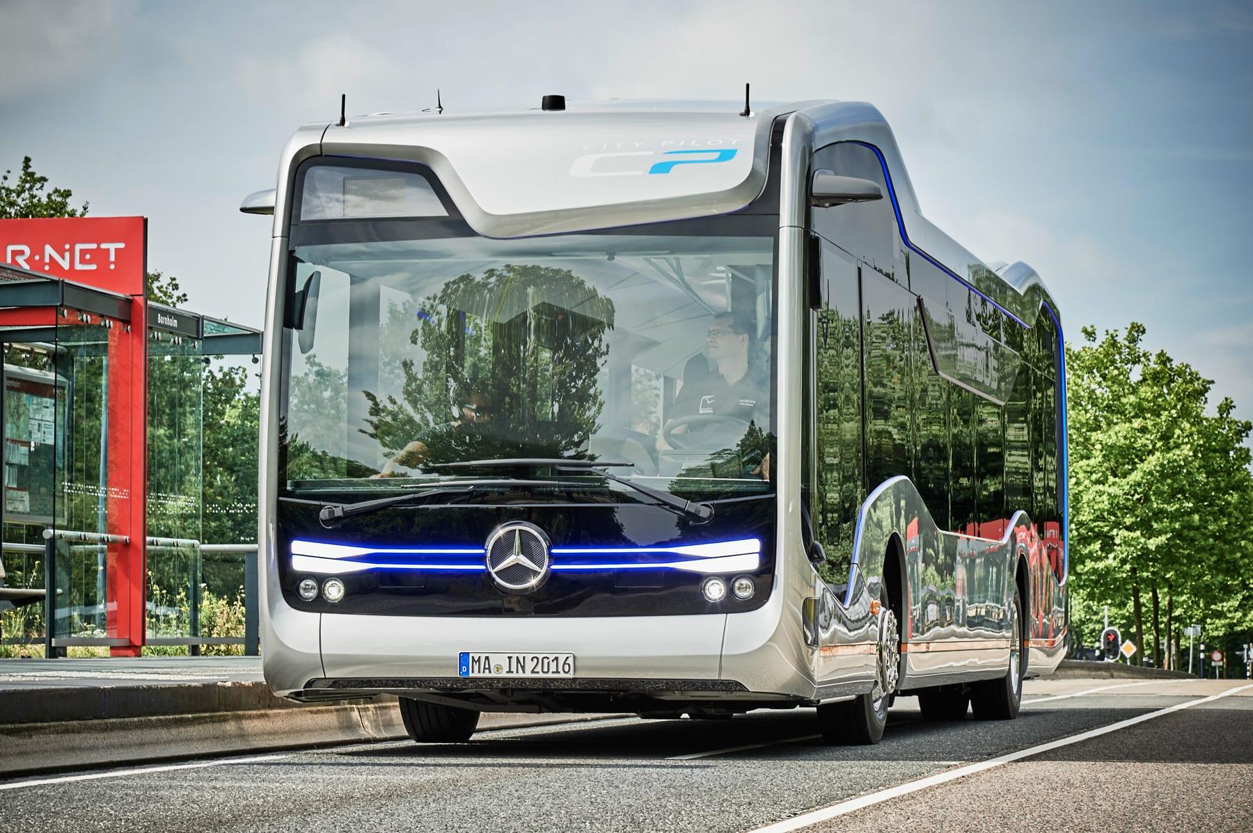 How To Get Lyft Amp >> Mercedes' autonomous bus makes a landmark trip on public ...
