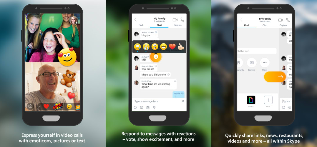 Skype Mobile tests in-call reactions and retooled search
