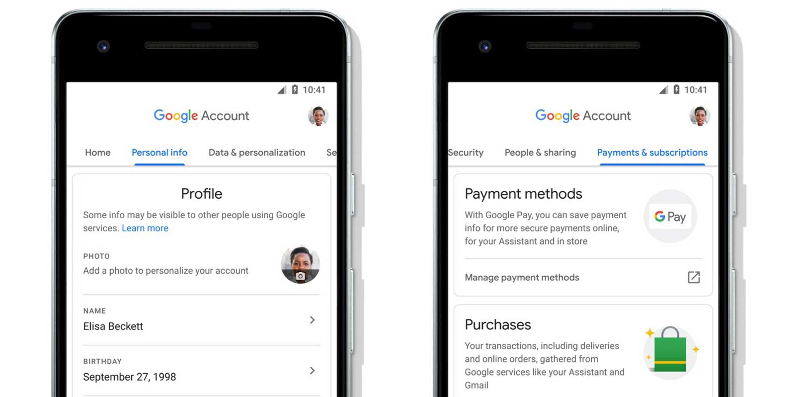Google makes it easier to manage your account on Android