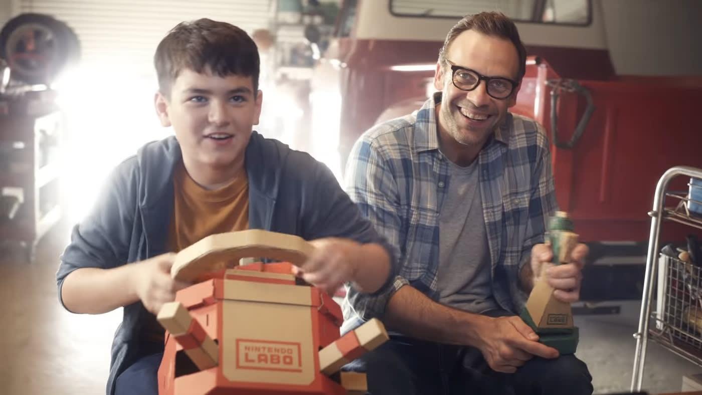Nintendo's Vehicle Labo kit delivers cardboard driving fun