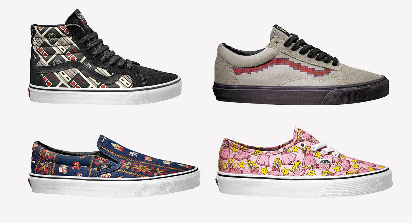 c93cc99a5f4bfe Nintendo and Vans team up on retro gaming sneakers